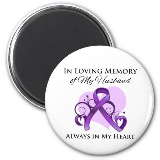 In Memory of My Husband - Pancreatic Cancer Refrigerator Magnets