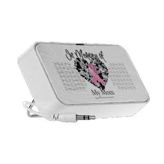 In Memory of My Mom - Breast Cancer Awareness Portable Speakers