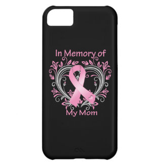 In Memory of My Mom Breast Cancer Heart iPhone 5C Covers
