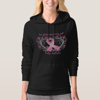 In Memory of My Mom Breast Cancer Heart Pullover