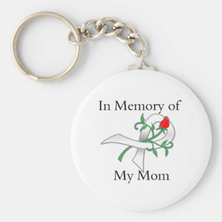 In Memory of My Mom - Lung Cancer Basic Round Button Keychain
