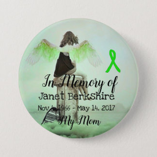 In Memory of My Mom Lyme Memorial Button