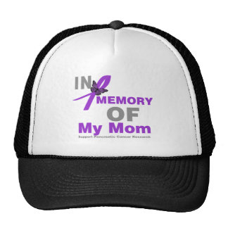 In Memory of My Mom Pancreatic Cancer Trucker Hats