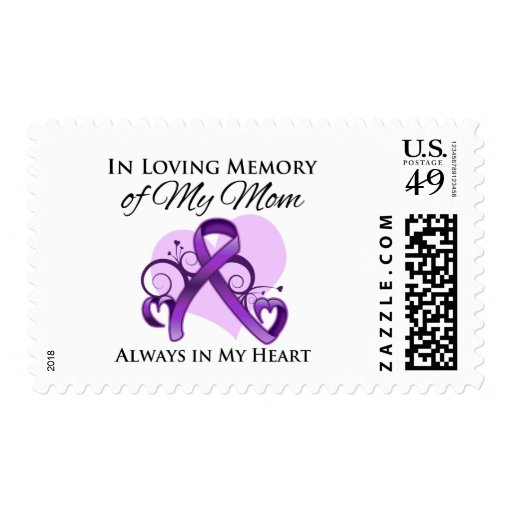 In Memory of My Mom - Pancreatic Cancer Postage Stamp