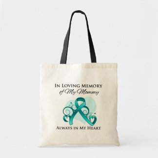 In Memory of My Mommy - Ovarian Cancer Canvas Bag