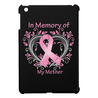 In Memory of My Mother Breast Cancer Heart iPad Mini Cases
