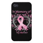 In Memory of My Mother Breast Cancer Heart Cover For iPhone 4