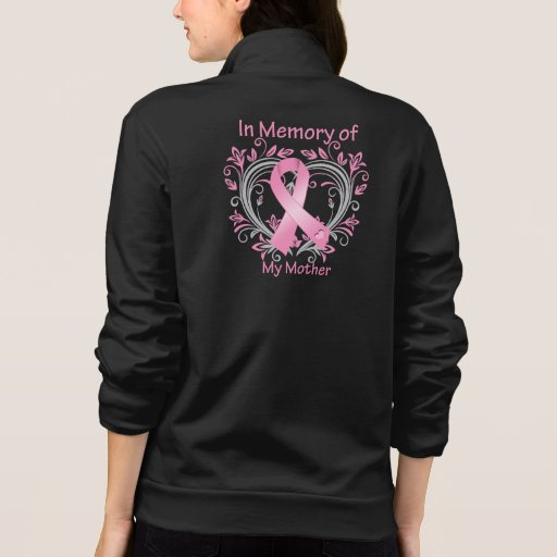 In Memory of My Mother Breast Cancer Heart Tee Shirt