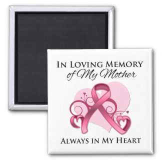 In Memory of My Mother - Breast Cancer Fridge Magnets