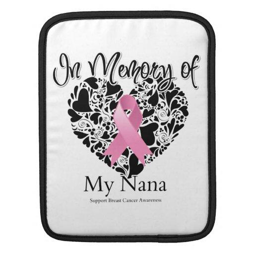 In Memory of My Nana - Breast Cancer Awareness iPad Sleeve