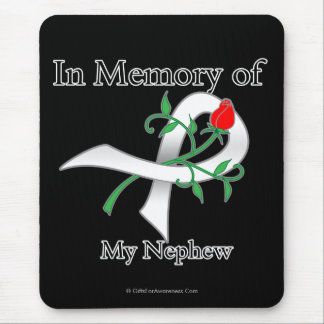 In Memory of My Nephew - Lung Cancer Mouse Pad