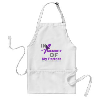 In Memory of My Partner Pancreatic Cancer Adult Apron