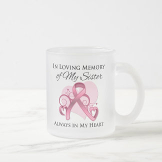In Memory of My Sister - Breast Cancer Coffee Mugs