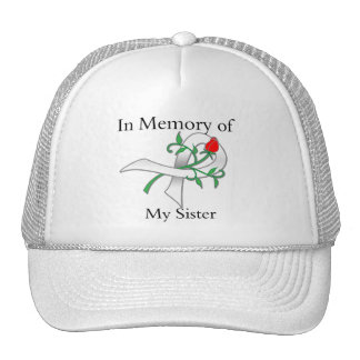 In Memory of My Sister - Lung Cancer Trucker Hats