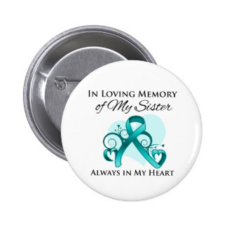 In Memory of My Sister - Ovarian Cancer 2 Inch Round Button