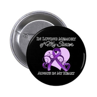 In Memory of My Sister - Pancreatic Cancer Pin