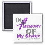 In Memory of My Sister Pancreatic Cancer Fridge Magnet
