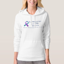 In Memory of My Sister Purple & Teal Ribbon Hoodie