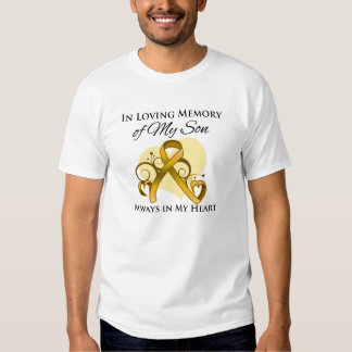 In Memory of My Son - Appendix Cancer Tee Shirt