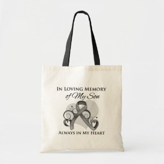 In Memory of My Son - Brain Cancer Tote Bag