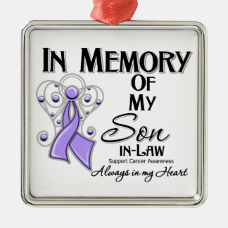 In Memory of My Son-in-Law Cancer Awareness Christmas Ornaments