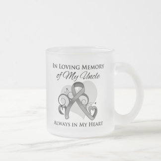 In Memory of My Uncle - Brain Cancer Mugs