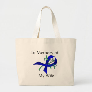 In Memory of My Wife - Colon Cancer Canvas Bag