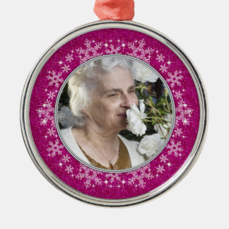 In Memory Of Ornament - Pink Snowflakes