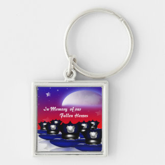 In Memory of Our Fallen Heroes Keychain