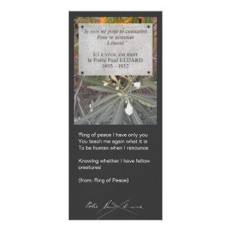 In Memory of Paul Éluard Custom Rack Card