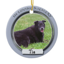 In Memory Of Pet Ornament