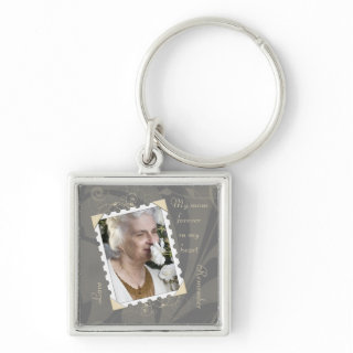 In Memory of Photo Template Keychain