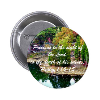 In Memory of Psalm 116:15 Button