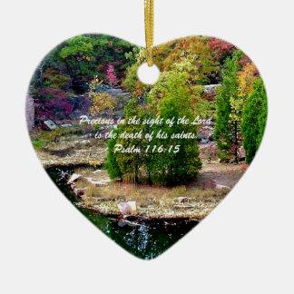 In Memory of Psalm 116:15 Ceramic Ornament
