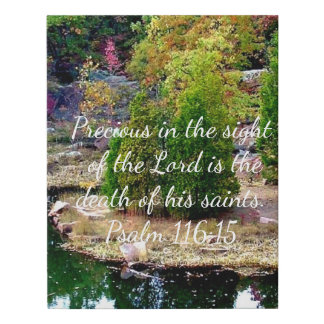 In Memory of Psalm 116:15 Faux Canvas Print