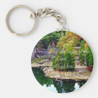 In Memory of Psalm 116:15 Keychains