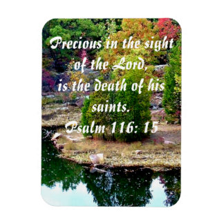 In Memory Of Psalm 116:15 Magnet