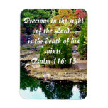 In Memory Of Psalm 116:15 Rectangular Magnets