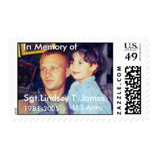 In Memory of, Sgt.Lindsey T. James. Postage
