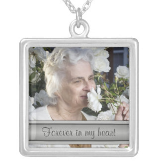 In Memory of Silver Photo Necklace