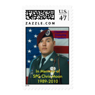 In Memory of SPC Chris Moon Stamp