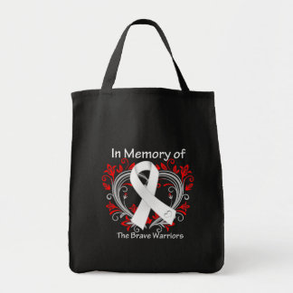 In Memory of The Brave Warriors - Lung Cancer Tote Bag