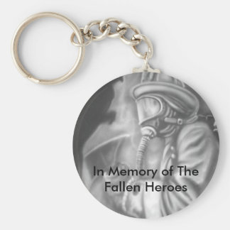In Memory of The Fallen Heroes Basic Round Button Keychain