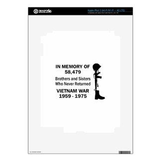 In Memory Of Vietnam Skins For iPad 3