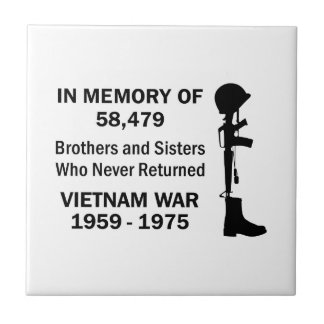 In Memory Of Vietnam Tile