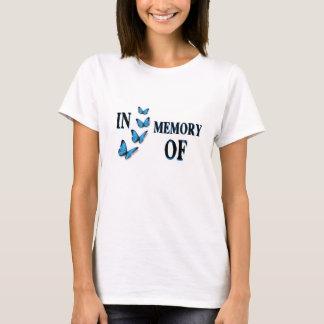 In Memory Of - Write on Shirt w/ Blue Butterflies