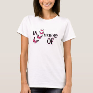 In Memory Of - Write on Shirt with Butterflies