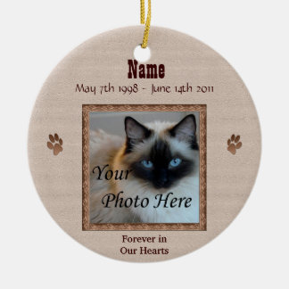 In Memory of Your Cat - Custom Memorial Christmas Tree Ornaments