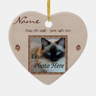 In Memory of Your Cat - Custom Memorial Christmas Ornament