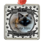 In Memory of Your Cat Forever Remembered - Pet Christmas Ornaments